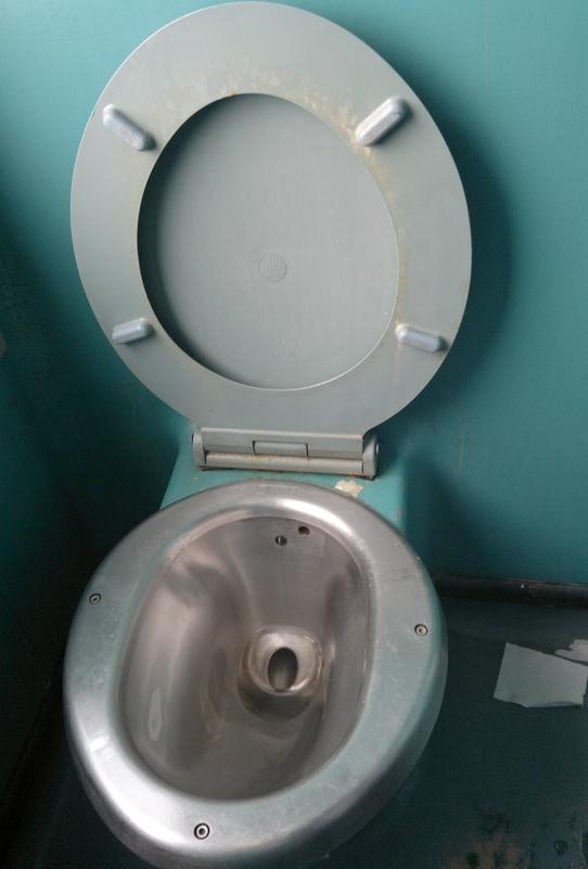 Deutsche Schlampe fickt in der Zug Toilette