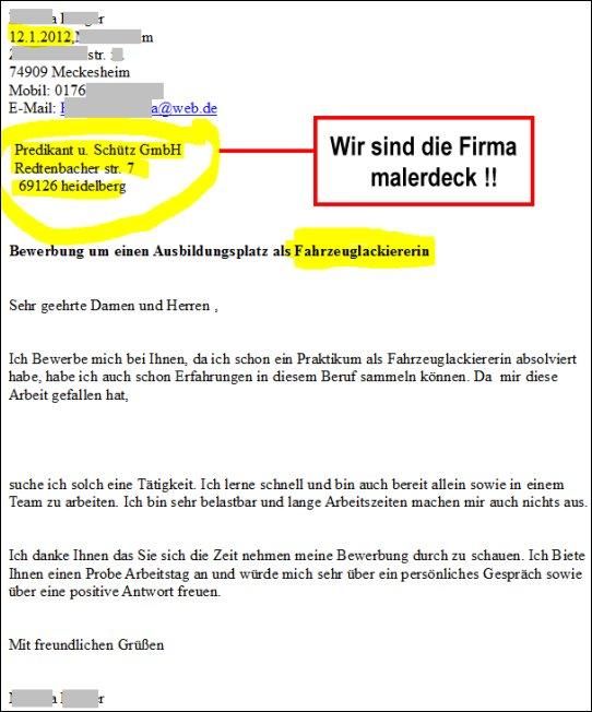 Bewerbungsschreiben Archives Malerdeck Ihr Opti Maler Partner
