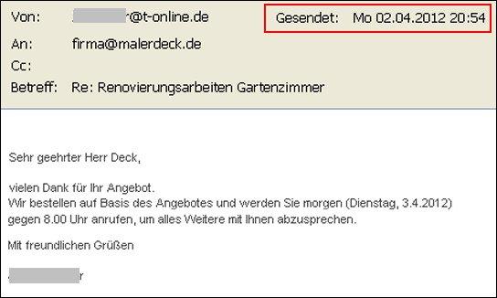 Angebot Per Email Archives Malerdeck Ihr Opti Maler Partner Aus