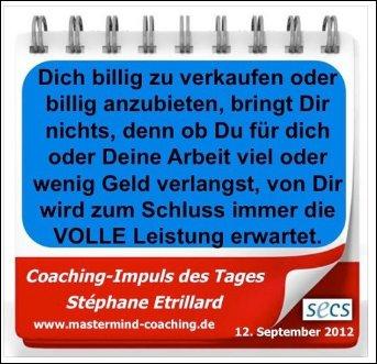 Wunderbarer Coaching Impuls von Stéphane Etrillard