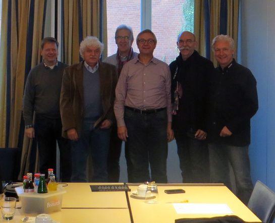 Richard Bobkiewicz, Alfred Neumann, Erich Werner, Clemens Schönack, Werner Deck, Volker Geyer (von li nach re)