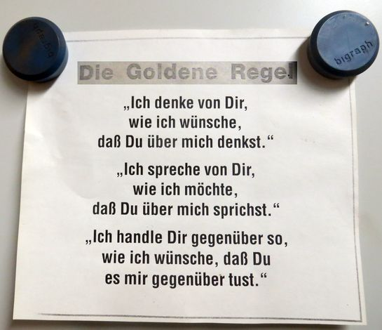 Goldene Regel Bergpredigt