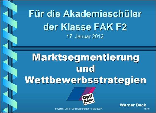 Marktsegmentierung und Wettbewerbsstrategien