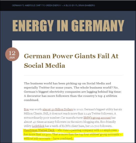 malerdeck hat mehr Twitter-Follower, als die vier größten Stromkonzerne zusammen