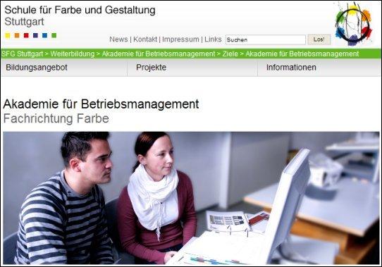 Akademie für Betriebsmanagement, Schule für Farbe und Gestaltung, Stuttgart