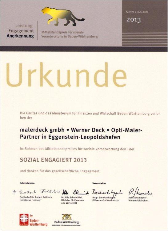Sozial engagiert (nicht nur) 2013