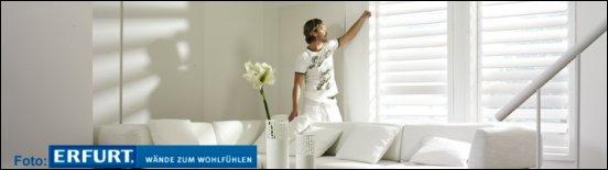 Weiße Wohnzimmerwände