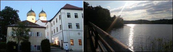 Kloster Seeon mit dem Klostersee