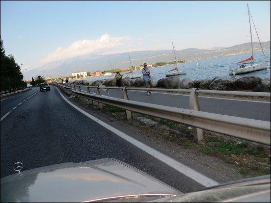 Staufreie Fahrt, entlang des Gardasees
