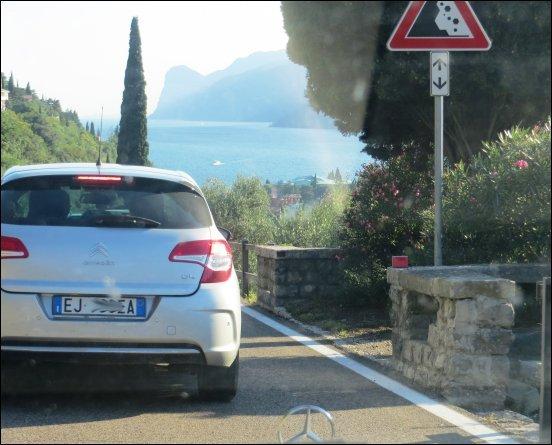 Unser Ziel in Sichtweite, der Gardasee