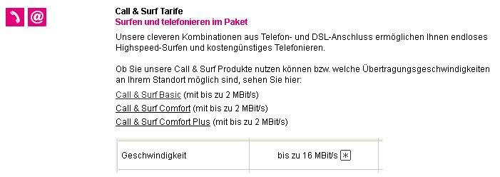 Verfügbarkeit bei Telekom überprüft