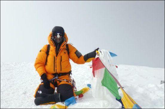 Christain Sander auf dem Gipfel des