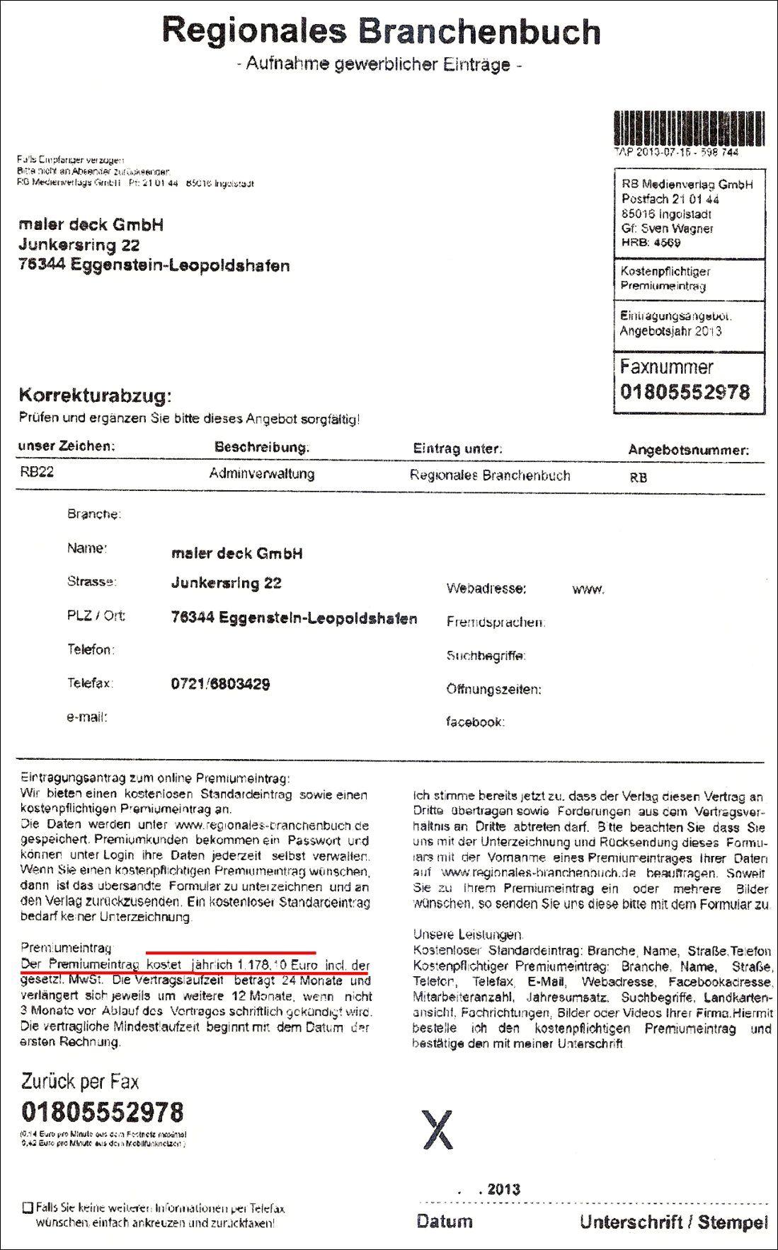 Branchenbuch-Abzoche durch RB Medienverlag Gmbh aus Ingolstadt