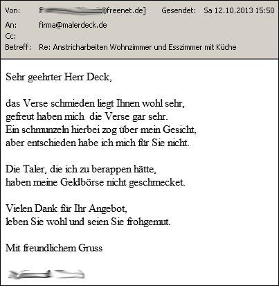 Absage Archives - malerdeck   Ihr Opti-Maler-Partner® aus