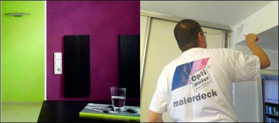 Bunte Wände müssen wieder hell gestrichen werden