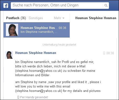Das schrieb mir heute Stephini Hosmann auf Facebook. Sie wird mich lieben!