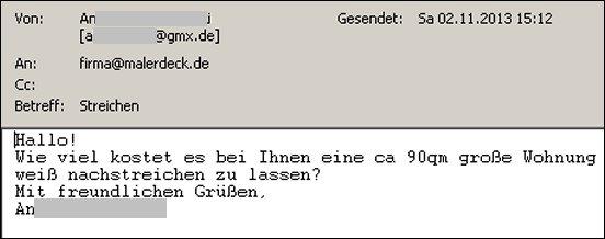 Wohnung Streichen Lassen Dusseldorf : es bei Ihnen eine ca 90qm große Wohnung weiß nachstreichen zu lassen