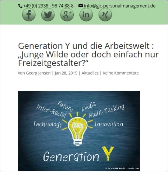 Georg Jansen zu Generation Y